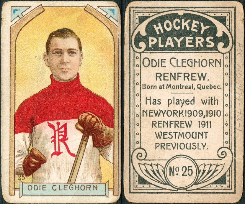 Hockey player card, Montreal, 1911