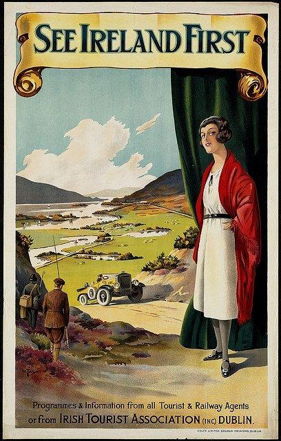 Irish travel poster, circa1920