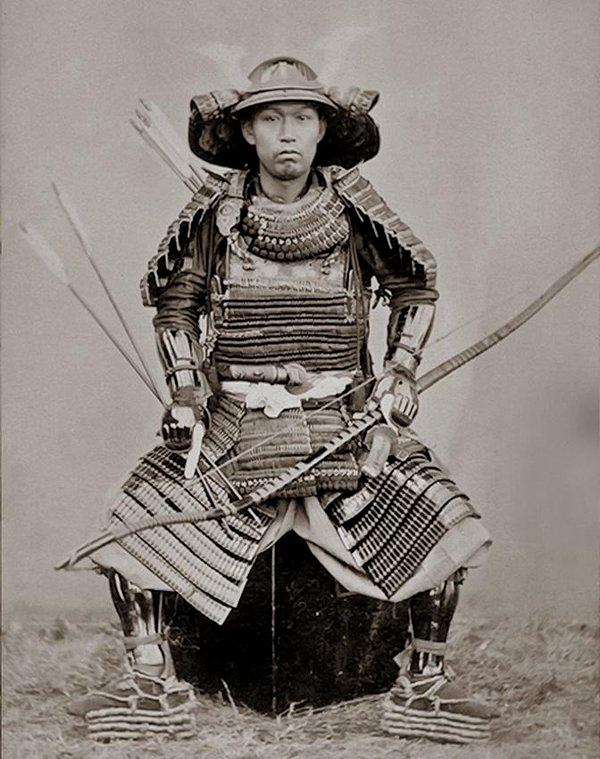 Samurai, Nagasaki, Japan by Ueno Hikoma,1860s