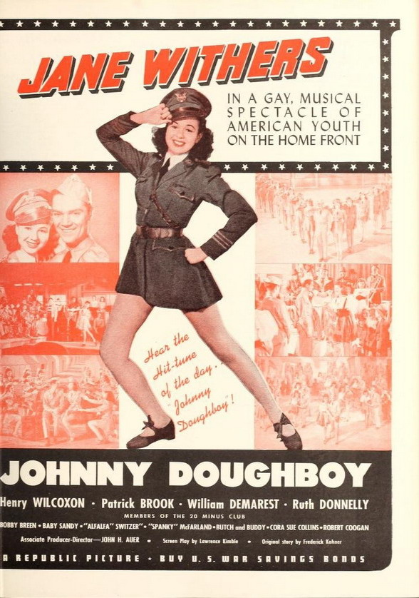 """""""Johnny Doughboy"""" starring Jane Withers, WWIIera"""