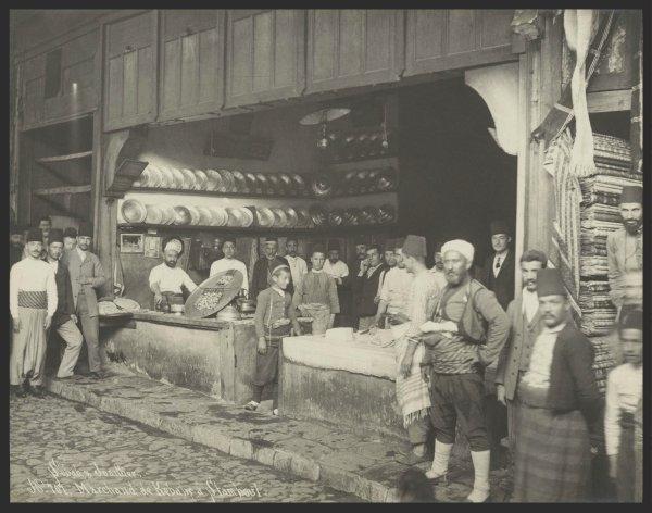 Kebab Shop in Istanbul, Turkey,1884