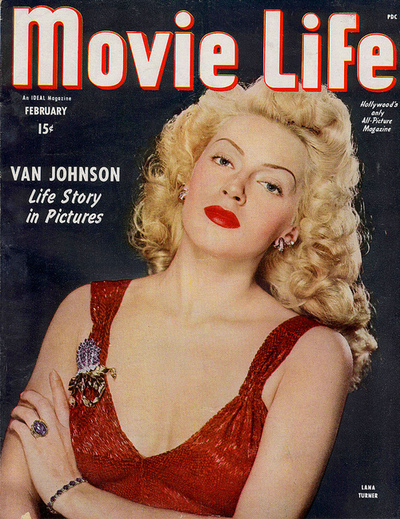 Lana Turner on the cover of 'MovieLife'