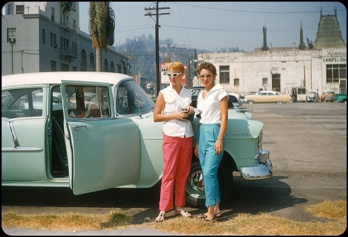 Tourists in Los Angeles, 1950s