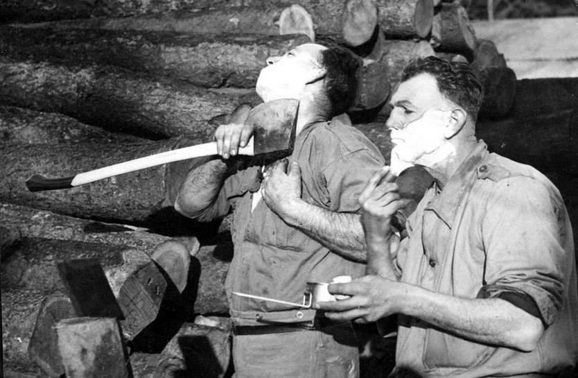 Lumberjacks shaving