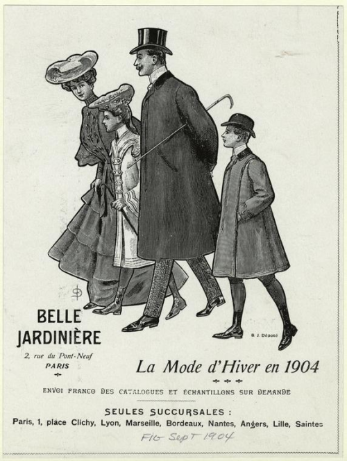 mode de hiver 1904