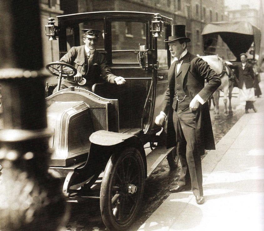 Taxi, NYC, 1910