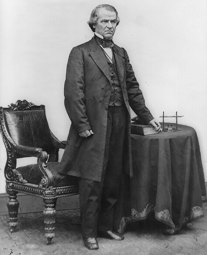 US President Andrew Jonson, one of only 3 US Presidents to be impeached