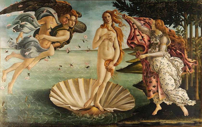 """Sandro Botticelli """"La Nascita di Venere"""" (""""The Birth ofVenus"""")"""