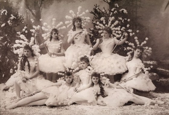 Snowflakes in the first production of The Nutcracker (Imperial Russian Ballet, 1892)