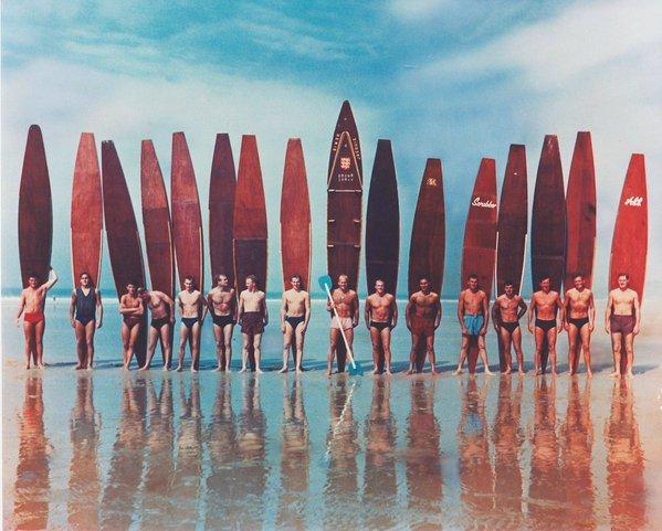 British longboard surfers,1950s