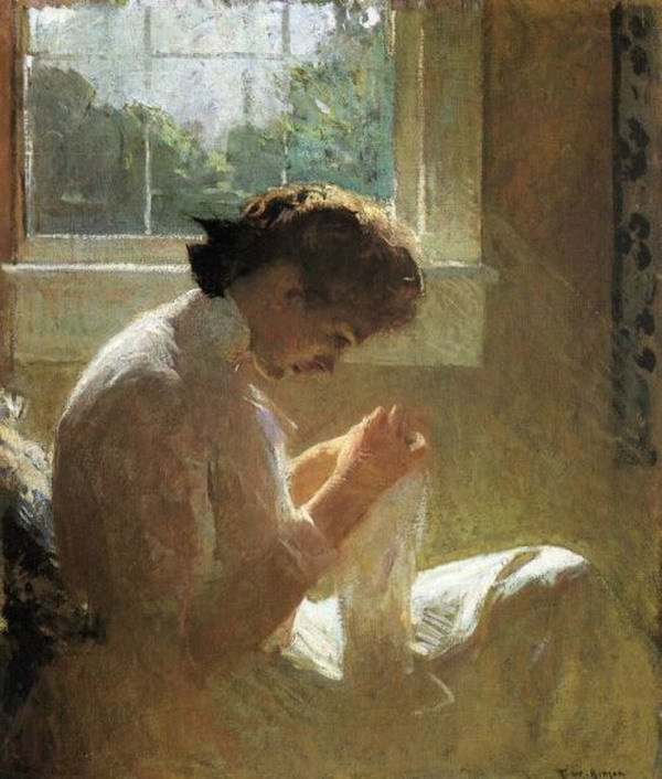 """The Sunny Window"" by Frank W. Benson, 1919"