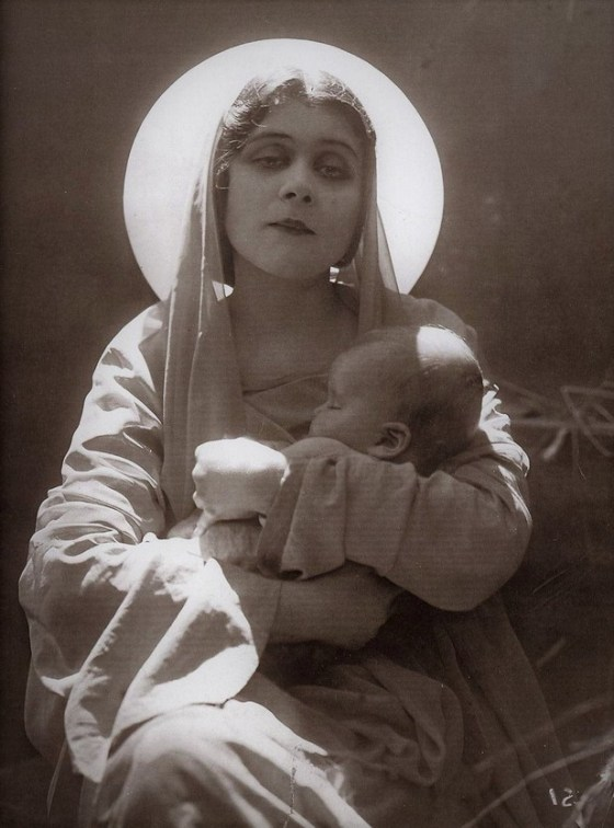 theda bara as madonna with child