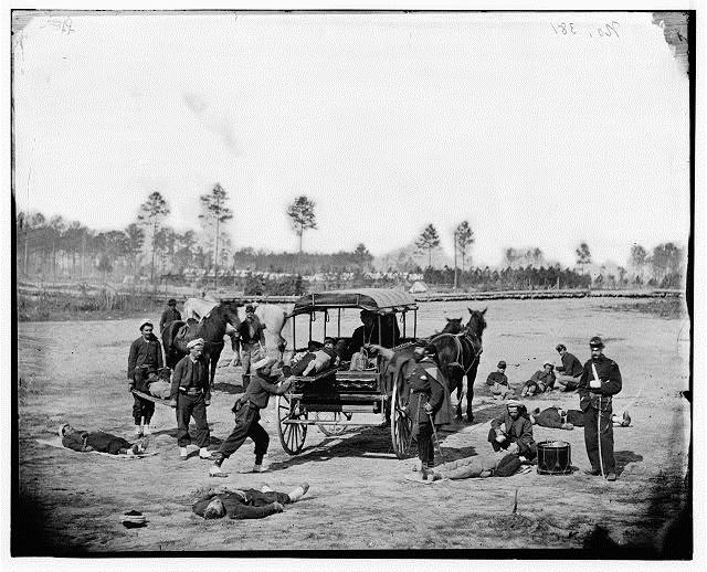 Medic and ambulance training, US Civil War,1860s