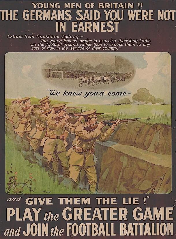 British Football Battalion,WWI