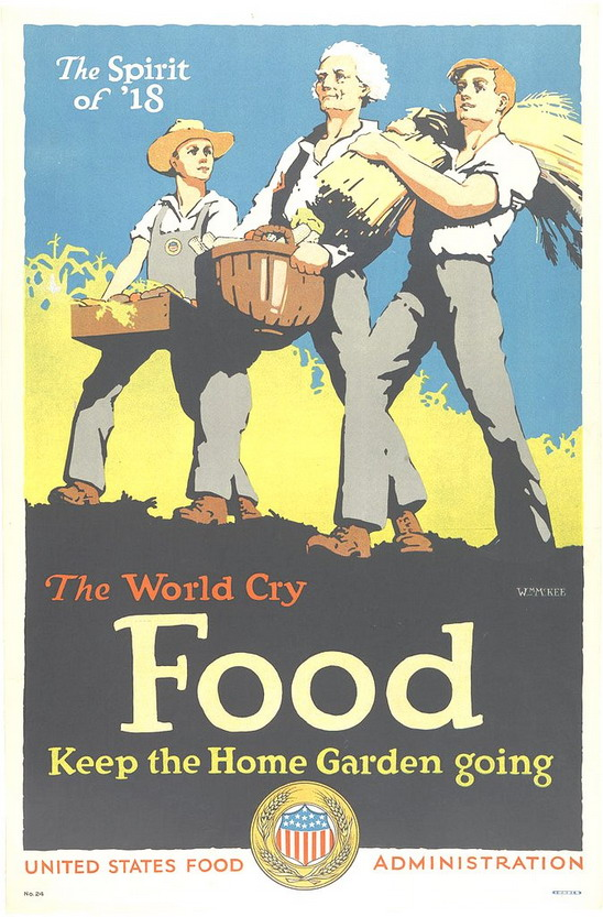 Grow Food! (US poster during WWI, 1918)