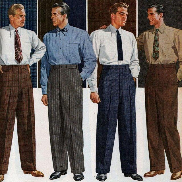 Men's fashions, 1940s