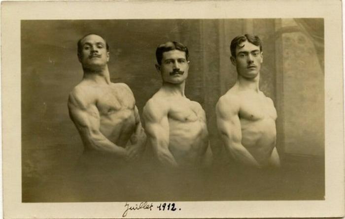 Three athletes, 1912
