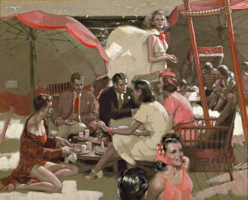 Beach party, 1930s