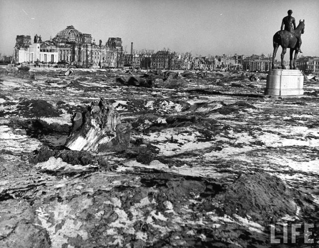 The destruction of Berlin as seen right after the end of WWII,1945