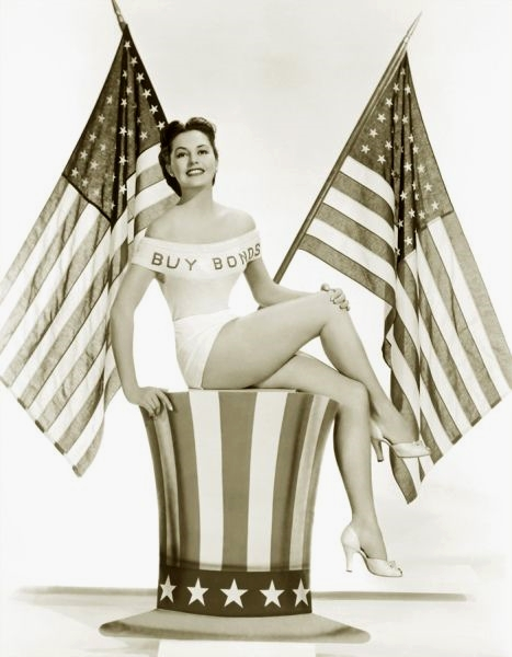 War bonds pinup, US, WWII