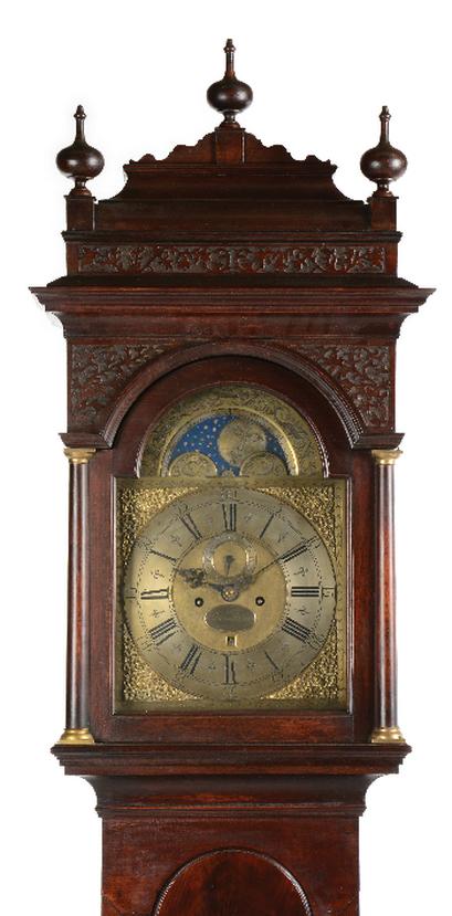 Ornate top of a grandfatherclock