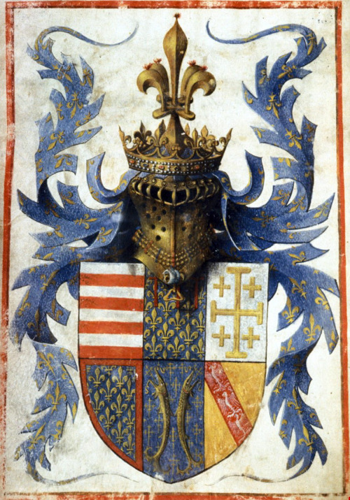 Coat of Arms of René d'Anjou, King of Naples,1440s