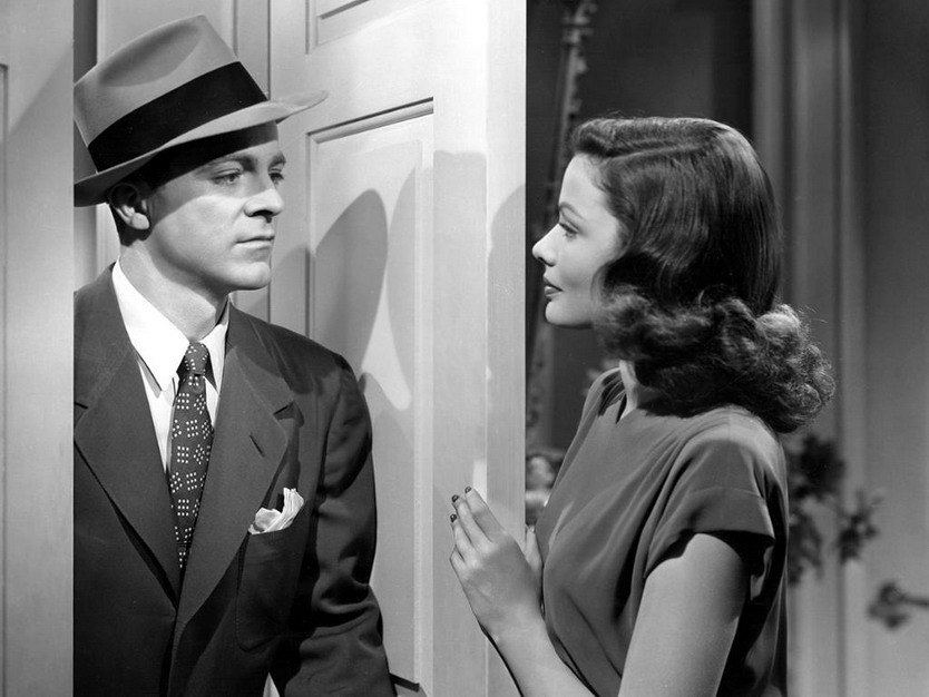 "Dana Andrews and Gene Tierney in ""Laura"", 1944"