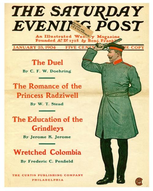 duel sat eve post 1904
