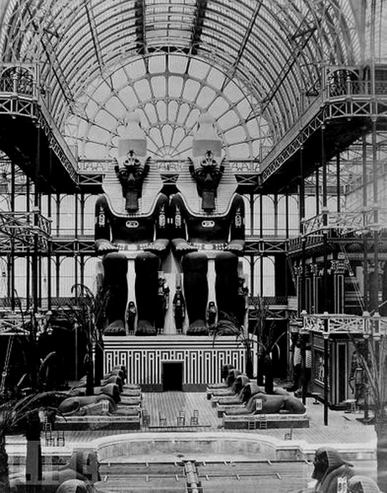 Egyptian wing at the Crystal Palace, London,1800s