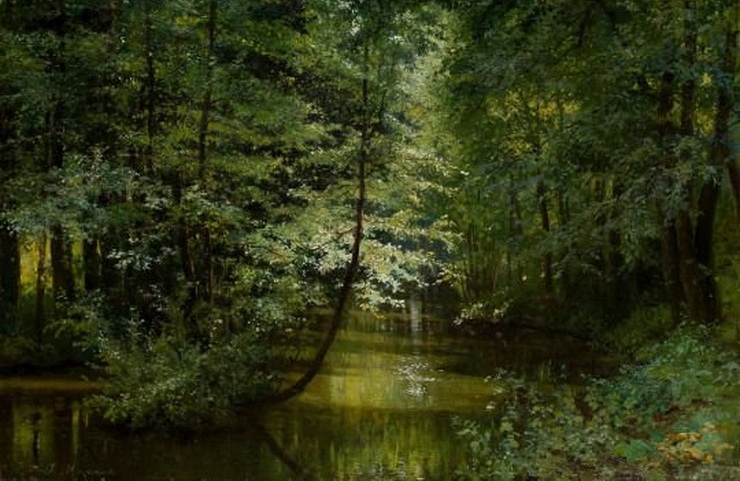 """""""Forest River"""" by Russian painter Grigoriy Grigorievich Myasoyedov, late1800s"""
