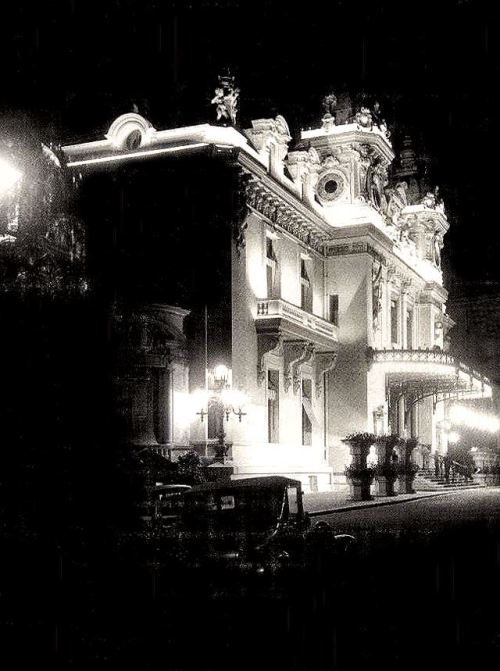 French Riviera at night, 1920s