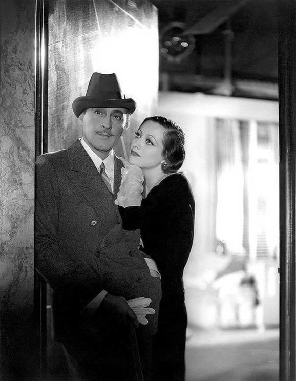 "John Barrymore and Joan Crawford in a publicity photo (by George Hurrell) for ""Grand Hotel"", 1932"