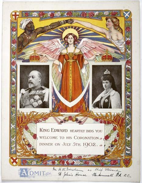 Invitation to King Edward's coronation, UK,1902
