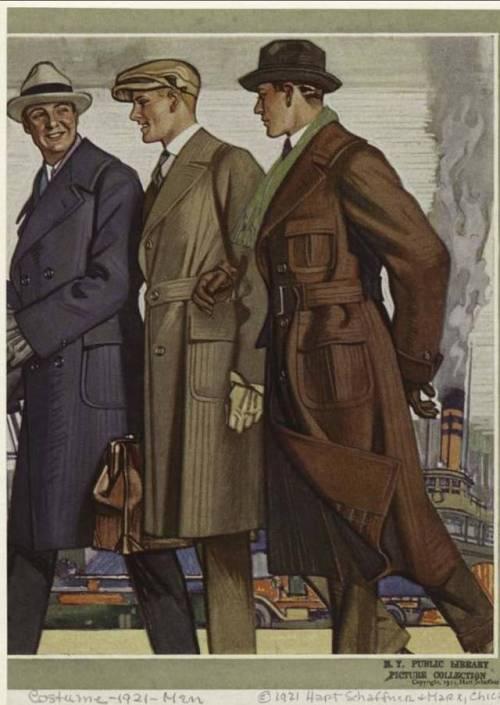 Men's overcoats, 1921