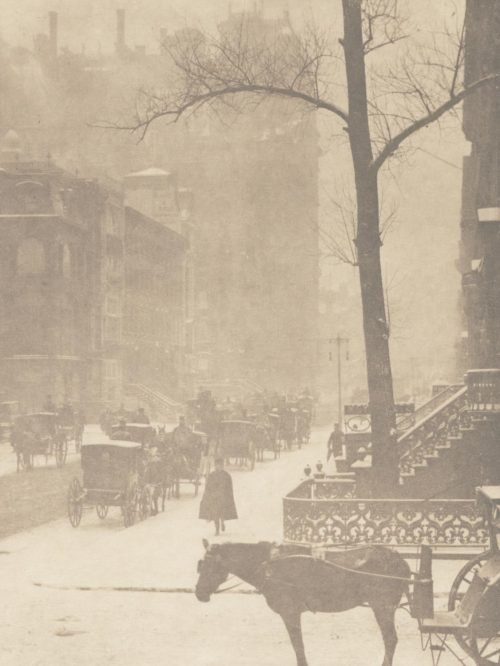 Fifth Avenue, NYC, in a snowstorm by Alfred Stieglitz, 1900
