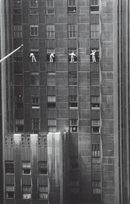 Window washers, NYC