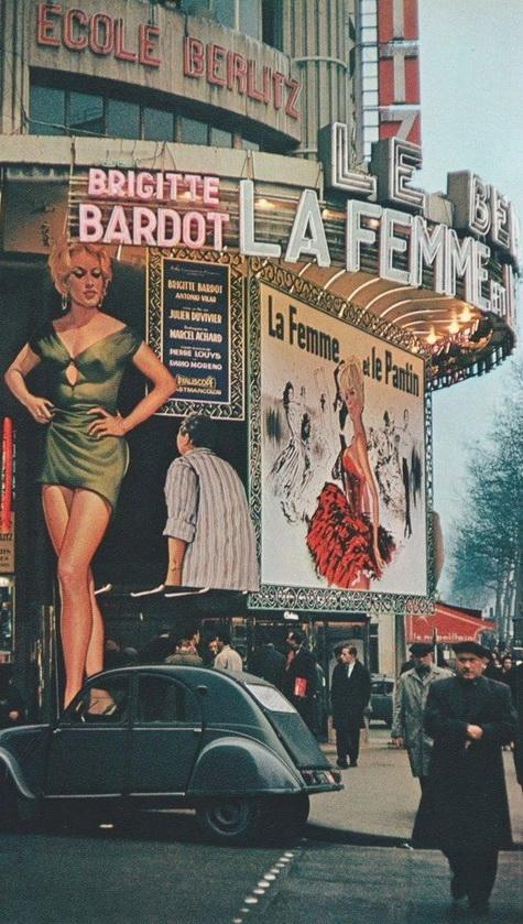 Paris, Photo par Robert Doisneau,1958