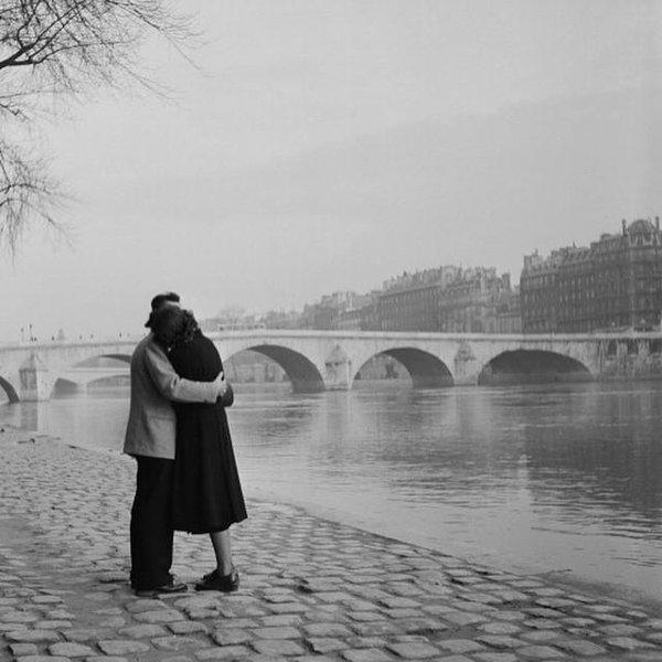 Amour au bord de la Seine, Paris,1950s