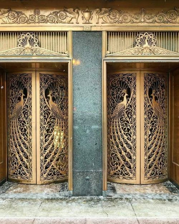 Peacock doors at C.D. Peacock jewelry store inChicago