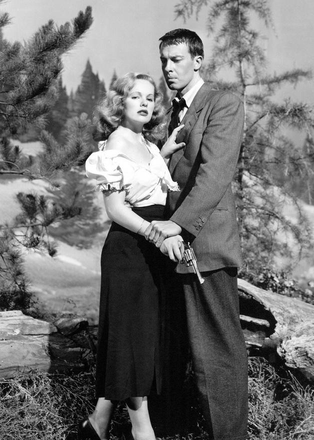 """Peggy Cummins and John Dall in """"Gun Crazy"""",1950"""