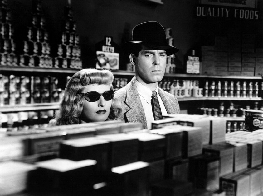 "Barbara Stanwyck and Fred MacMurray in ""The Postman Always Rings Twice"""