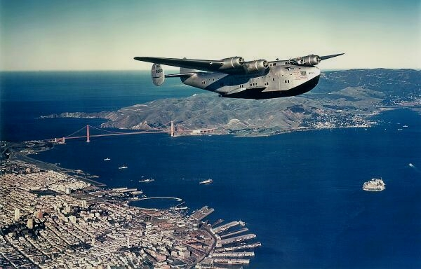 Clipper flying out of San Francisco,1940s