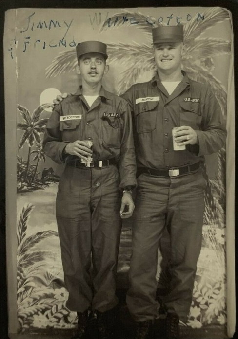 Drunk soldiers together on shore leave, Hawaii,WWII