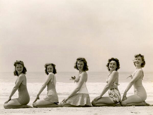 Swimwear models, 1940s