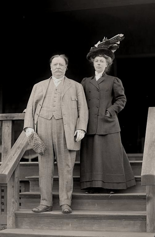 President William Howard Taft and his wife, circa1910
