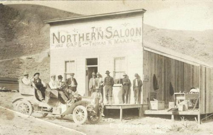 The Northern Saloon in Bannock, Nevada,1910