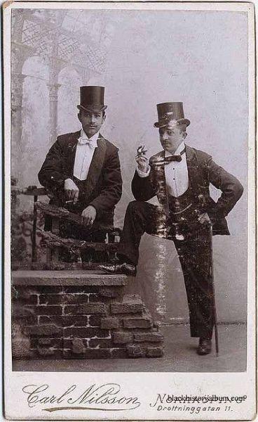 Swedish men wearing tophats
