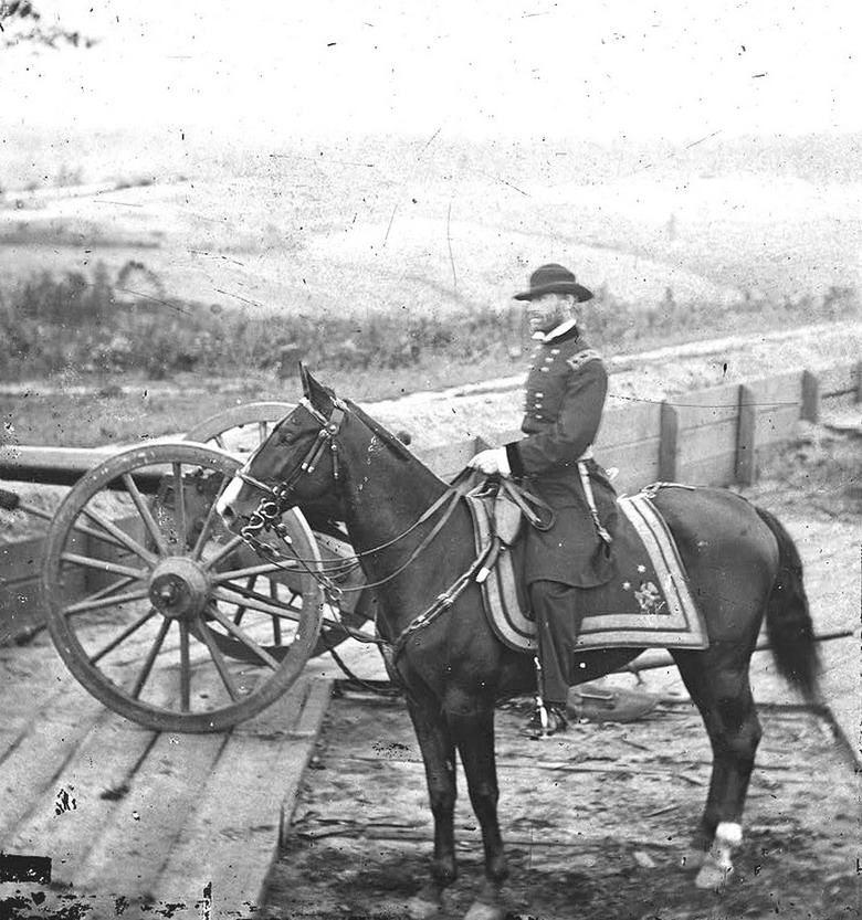 Union General William Sherman outside Atlanta just prior to burning down the city and rampaging across Georgia, US CivilWar