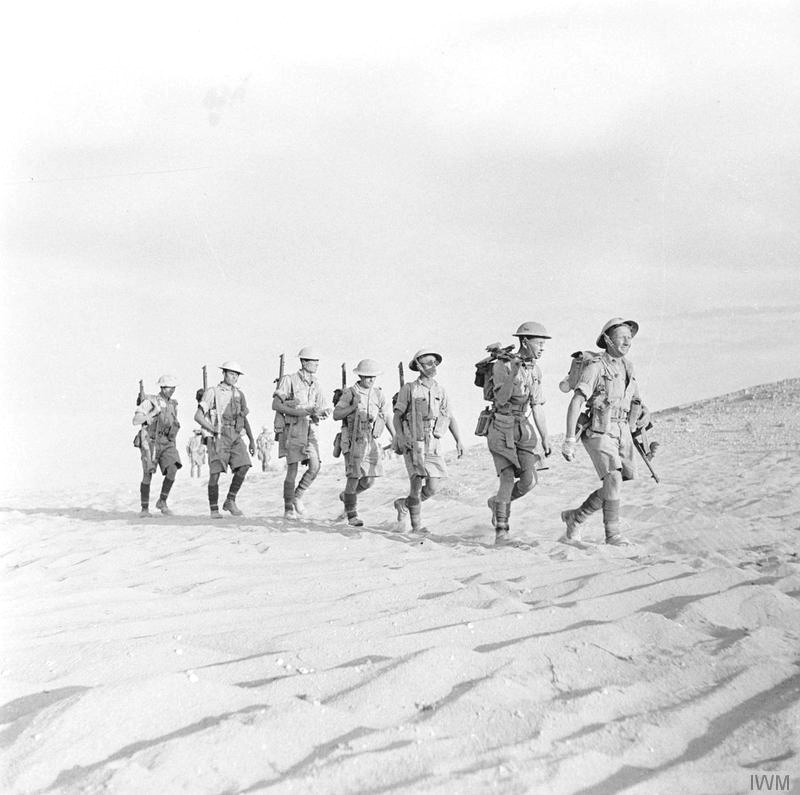 British troops in the Sahara desert, WWII, 1940s