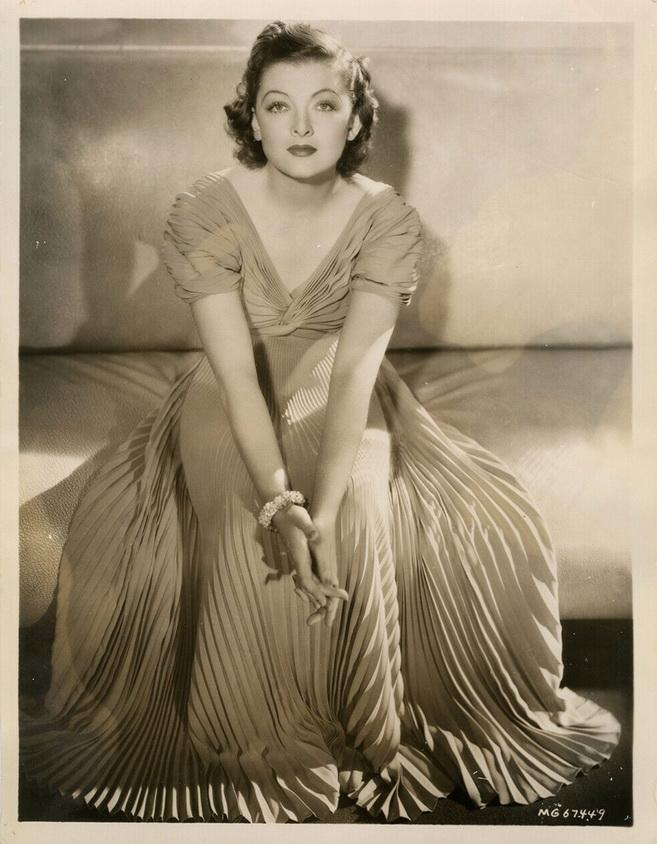 Myrna Loy by Laszlo Willinger,1938